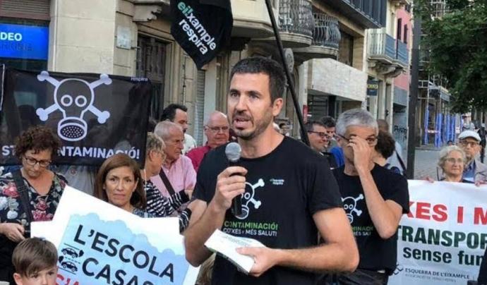 Guille López es el portaveu de l'Eixample Respira Font: Eixample Respira