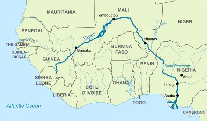 Situació de Guinea en un mapa.