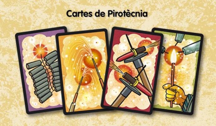 Algunes de les cartes del joc dissenyades per Xavier Cáliz