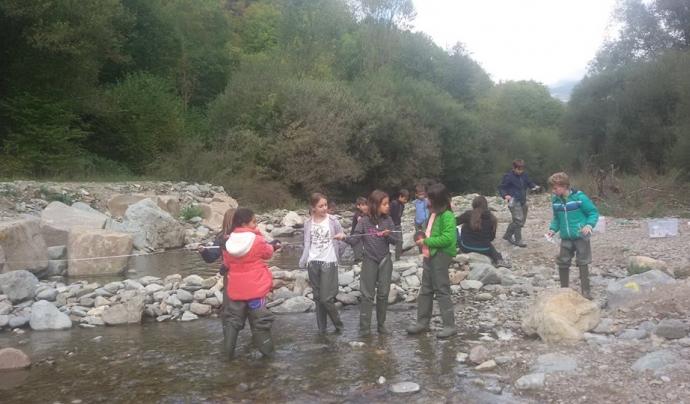 Inspecció de tardor al riu Rigart a Planoles (imatge: Associació Hàbitats),