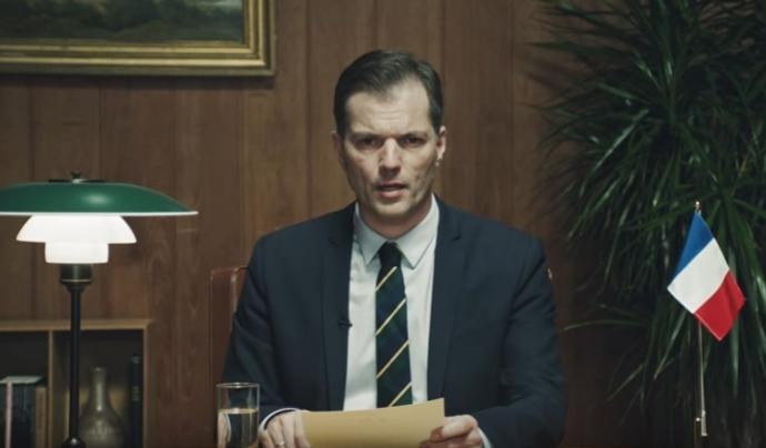 Mikael Bertelsen, presentador de la campanya. Font: Youtube