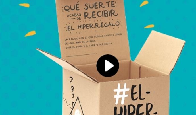 Capsa de l'hiperregal que proposa la Fundació Vicente Ferrer per aquest Nadal. Font: Fundació Vicente Ferrer