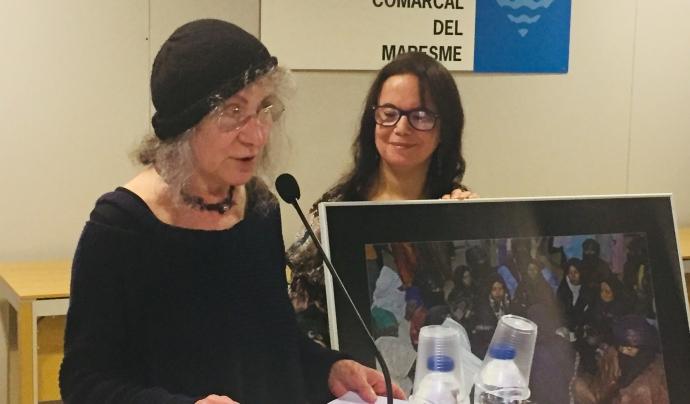 Teresa Bertran 'Teresa d'Arenys' va ser la homenatjada en la III edició de la trobada Font: Consell Comarcal del Maresme