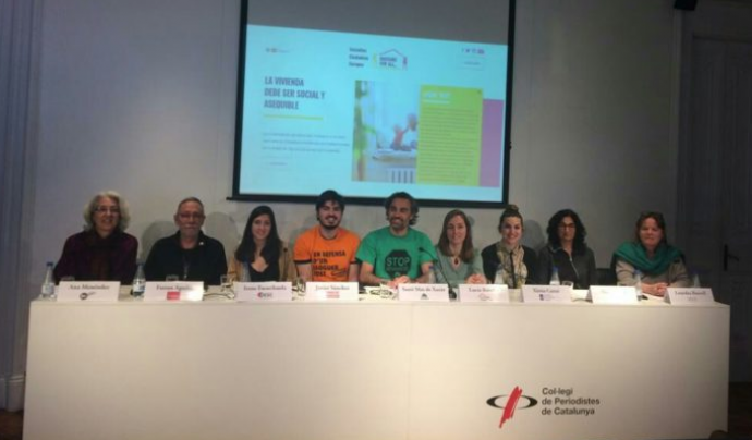La iniciativa es va presentar el 4 d'abril a Barcelona Font: 'Housing For All'