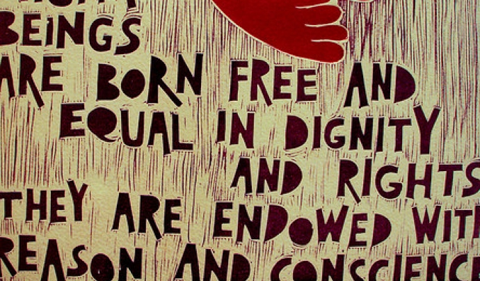 Human rights. Font: riacale (Flickr)