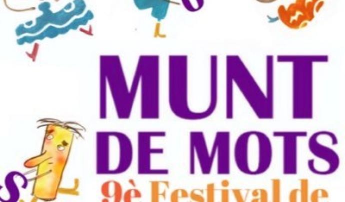 Cartell de la 9a edició del Festival Munt de Mots Font: Associació Munt de Paraules