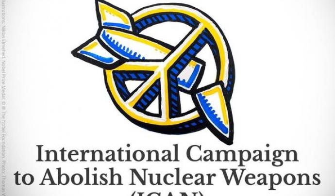 La campanya ICAN ha rebut Premi Nobel de la Pau 2017.  Font: Nobel Prize
