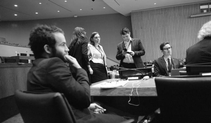 Membres de l'ICAN a l'Assemblea General de les Nacions Unides. Font: ICAN, Flickr