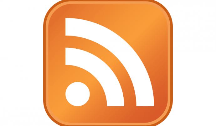 Aquesta icona ens indica que blog o una pàgina web disposa del sistema RSS Font: RSS