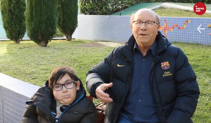 L'Iker Ruiz i el Manuel Sedeño fan ús del servi solidari de taxis 'Jo t'acompanyo'. Font: Míriam Pagès