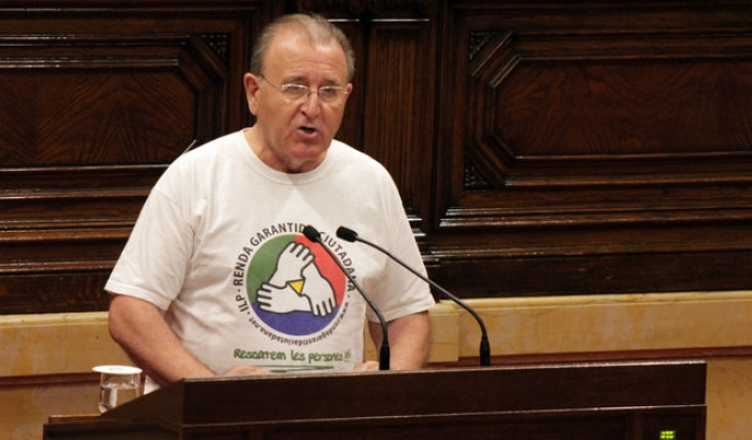 Diosdado Toledano, un dels impulsors de l'ILP de la renda garantida Font: Parlament