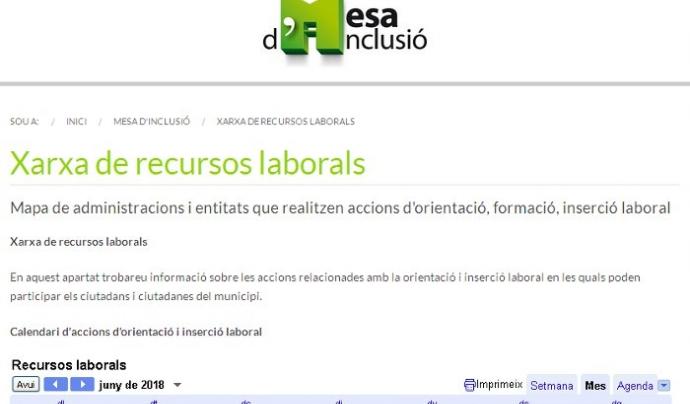 La 'Xarxa de recursos laborals' aplega la informació sobre inserció laboral de Sant Adrià de Besòs
