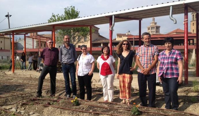 Impulsors dels horts solidaris de Vic (foto: Ajuntament de Vic)
