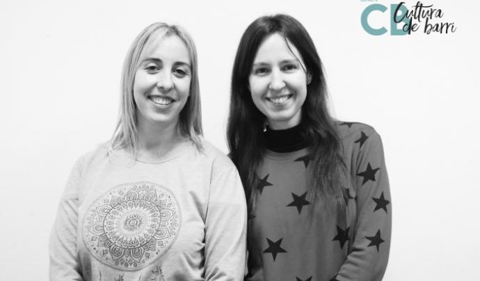 Laura i Gemma, tècniques de coordinació de l'Associació Cultura viva Santboiana. Font: Associació Cultura viva Santboiana