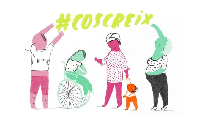 Imatge de la campanya anomenada #CosCreix Font: Cos