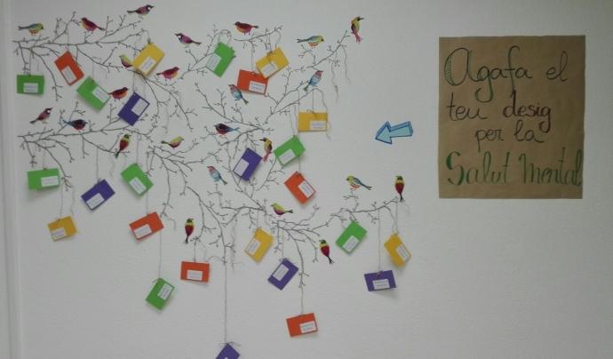 Campanya de sensibilització amb motiu del Dia Mundial de la Salut Mental Font: Associació de familiars de malalts mentals de Catalunya