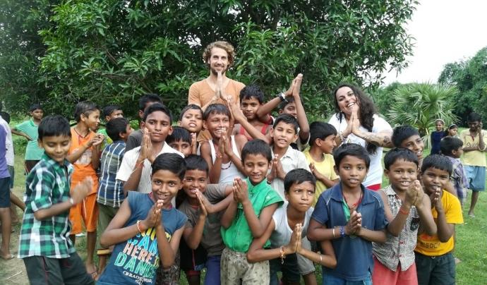 Voluntari en un projecte a Jaipur (Índia) Font: ONG Voluntariado