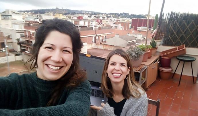 Júlia Granell i Elisabet Puigdollers són les impulsores d'Obliqües. Font: Obliqües