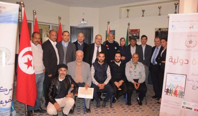 Imatge del Fòrum per la Institucionalització del Voluntariat celebrat a Casablanca el passat mes de desembre. Font: Fundació Catalunya Voluntària