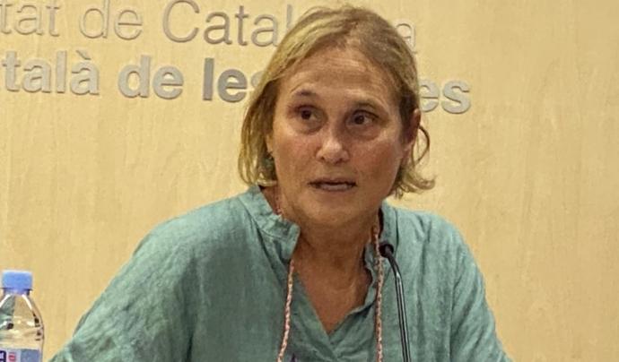 Alicia Oliver durant la seva ponència a les III Jornades de Violència de Gènere i Salut de Medicusmundi Mediterrània. Font: Medicusmundi Mediterrània