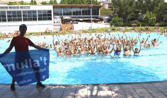 El 'Mulla't per l'esclerosi múltiple' es consolida com una de les festes més multitudinàries. Font: Ajuntament de Martorell
