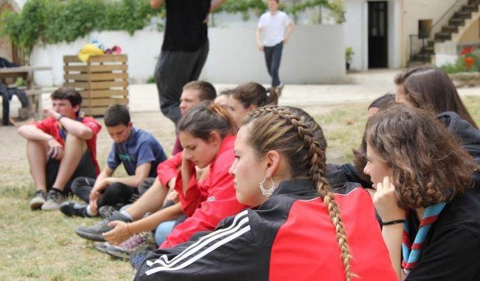 Adolescents participants de la trobada