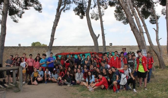 Foto de grup dels participants a la trobada Km.0