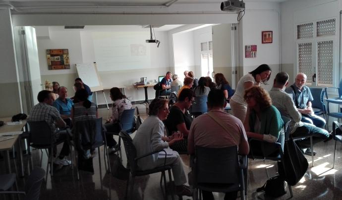 Voluntariat del Parc Taulí formant-se.      Font: Parc Taulí