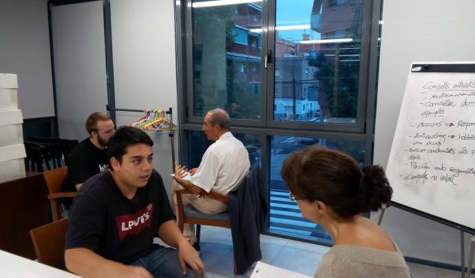 En Pere participa en una formació per ser mentor laboral. Font: Punt de Referència