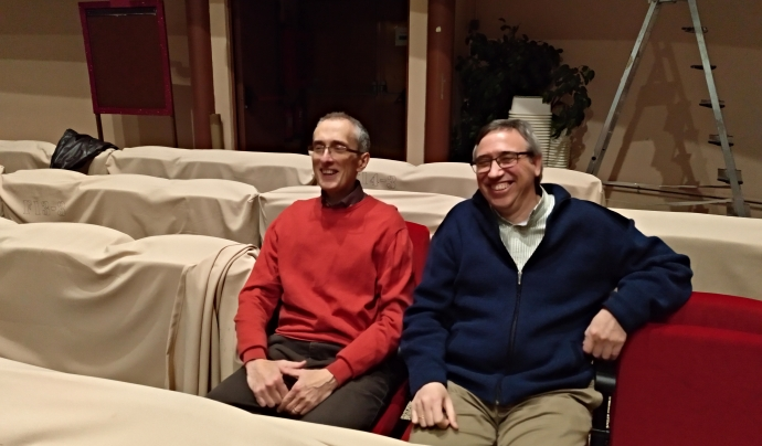 Els presidents de Lluïsos d'Horta, Miquel Àngel Aguilar 'Xester', i del Foment Hortenc 'Josep Maria Santamaria' expliquen a Xarxanet en què els afecta la darrera modificació del PGM Font: Oriol Jordan