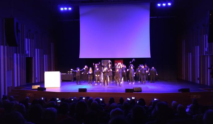 L'acte, celebrat a l'Auditori Eduard Toldrà de Vilanova i la Geltrú, va comptar amb un espectacle de dansa. Font: Josep Carbonell