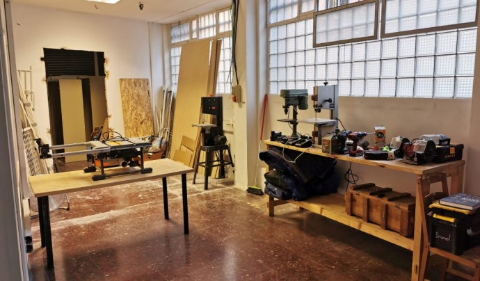 L'espai de Makers Zone BCN al barri del Poble Sec. Font: Makers Zone BCN