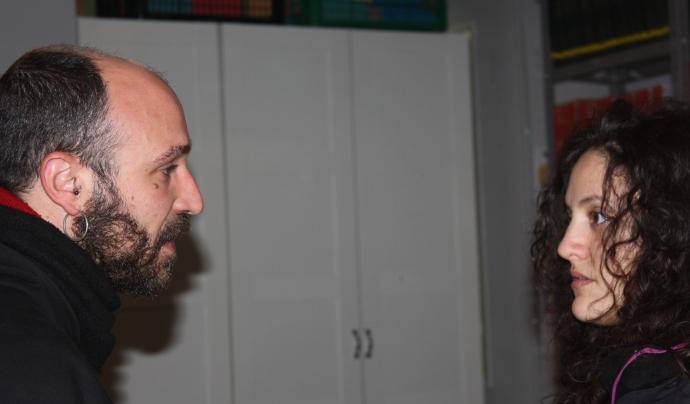 El Vicent amb una alumna de castellà