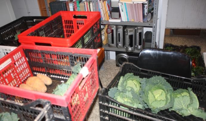 Les verdures coexisteixen amb l'Aula d'Idiomes a  l'Ateneu Roig