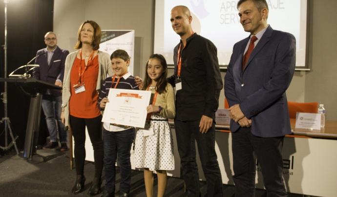 Acte d'entrega del Premi ApS 2016 Font: Premio Aprendizaje-Servicio