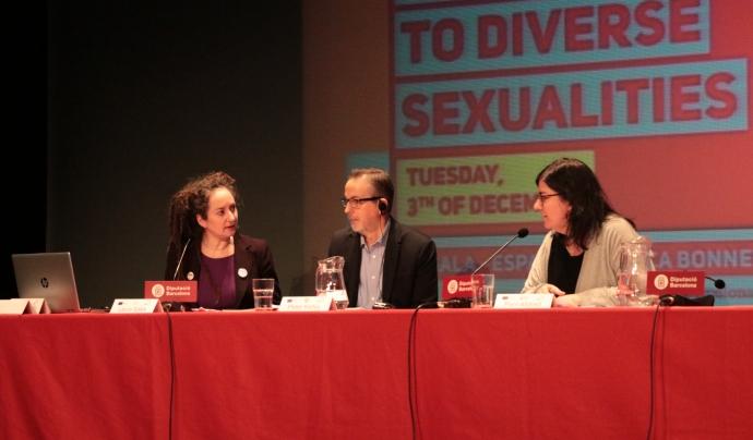 La Pam Alldred va ser a Barcelona el desembre passat per les jornades del projecte Look Wide. Font: Fundació SURT