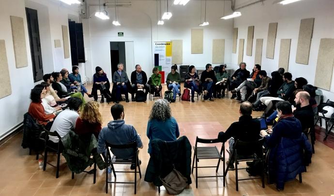El 22 de gener es va realitzar una jornada per presentar La Veïnal a col·lectius audiovisuals Font: La Veïnal
