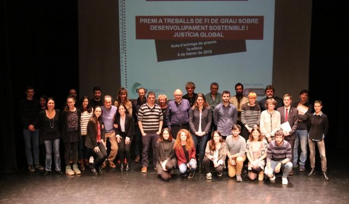Totes les persones participants del l'acte d'entrega de Premis.