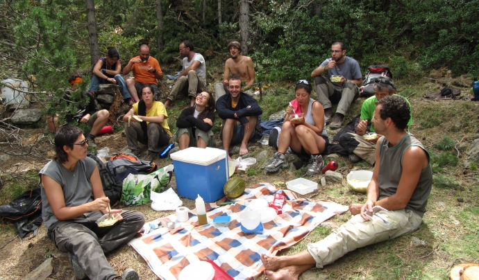 La cohesió del grup és fonamental / Font: Projecte Boscos de Muntanya