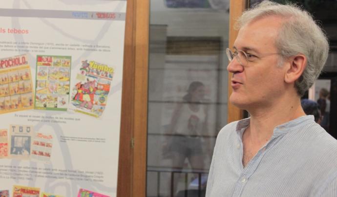 """Jordi Clapés, ninotaire, professor de dibuix i comissari de l'exposició """"Patufets i tebeos"""""""