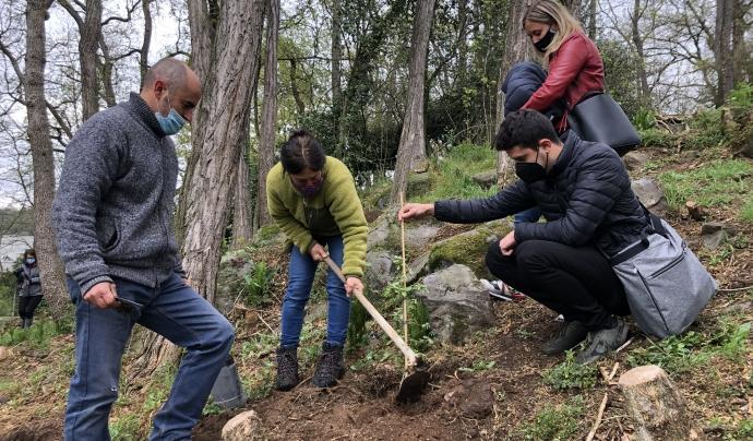 'Simbiosi' vol recuperar el bosc dels Tres roures. Font: Agrupació Naturalista i Ecologista de la Garrotxa