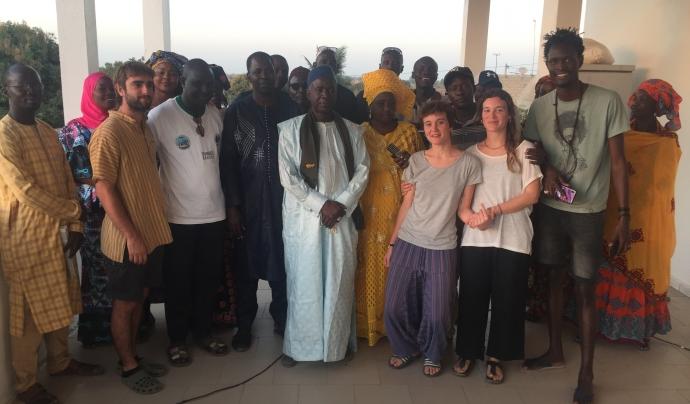 Un equip de voluntaris va viatjar a Niaga a deixar-ho tot enllestit per començar les obres. Font: Base-A