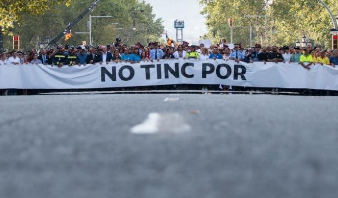 Manifestació atemptats Barcelona