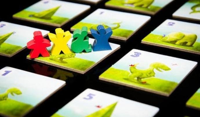 Algunes versions del joc de taula 'Topiary' inclouen 'meeples' diversos