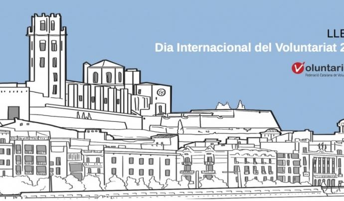 Cartell promocional del Dia Internacional del Voluntariat de Lleida. Font: FCVS