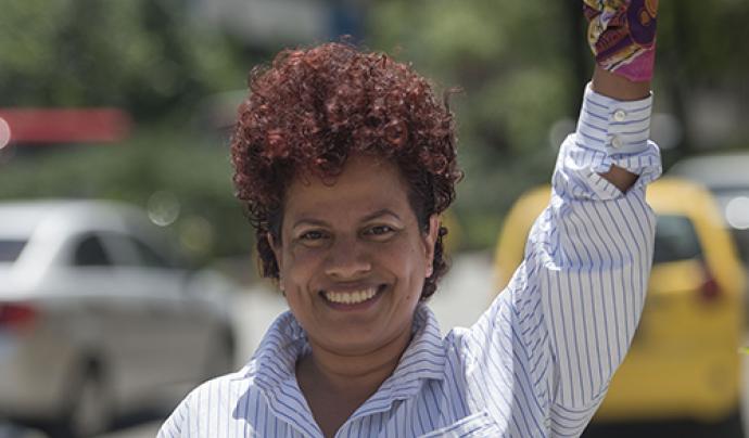Ismaria Zapata, activista feminista lesbiana, sociòloga amb mestratge en Estudis Humanístics i membre de la regidoria col·lectiva Estamos Listas. Font: Idem TV