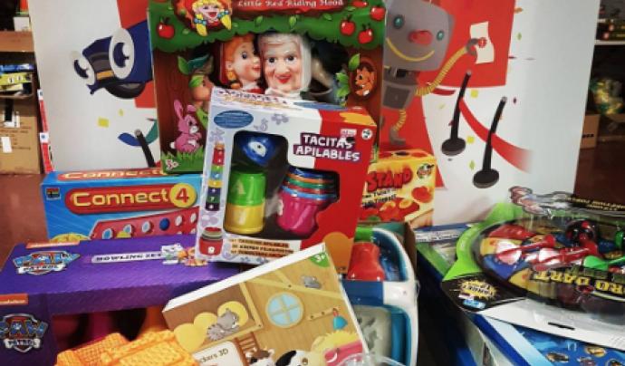 Recollida de joguines de Creu Roja Joventut Lleida Font: Creu Roja Joventut Lleida