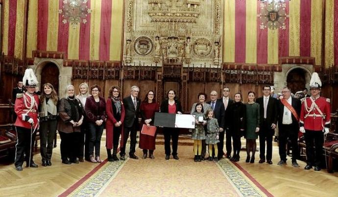 Imatge de l'entrega de la Medalla d'or al mèrit cívic. Font: Júlia Bacardit