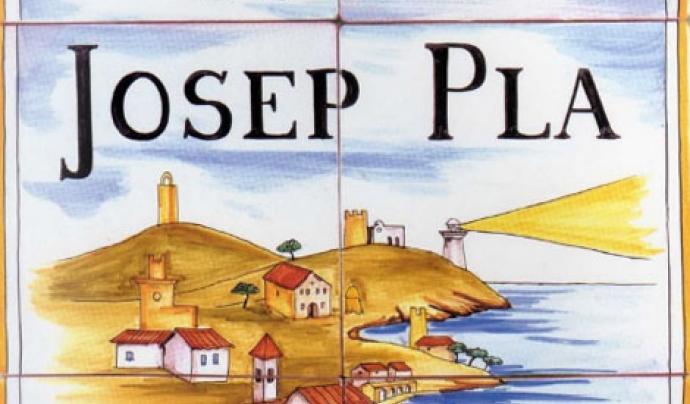 Cartell de la Ruta Josep Pla organitzada per la Fundació Josep Pla.  Font: Fundació Josep Pla
