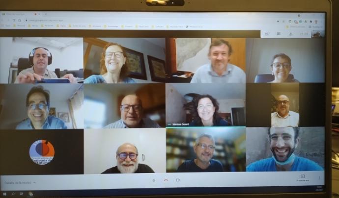 Membres de la Coordinadora en una reunió telemàtica Font: PastoretsCat